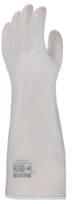 ダイローブ H200-40 耐熱用手袋 シリコーン製(裏地付)【[1040749][取寄せ]】