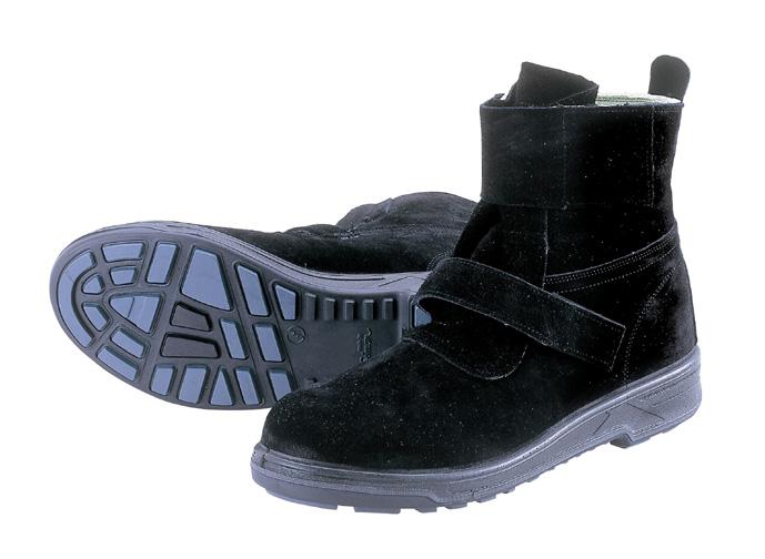 安全靴シモン SX3層構造底 ウォーキングセーフティ 耐熱作業用 WS28黒床 【1790218】
