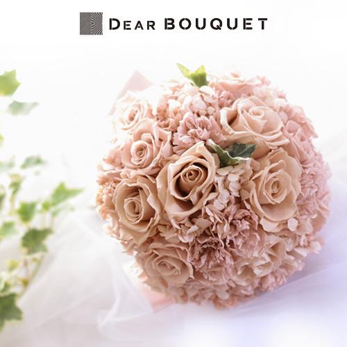 ブーケ 結婚式 ウェディング プリザーブドフラワー ラウンド型 花束 お色直し ブライダル 前撮り 結婚式ブーケ かわいい おしゃれ ブライダルブーケ