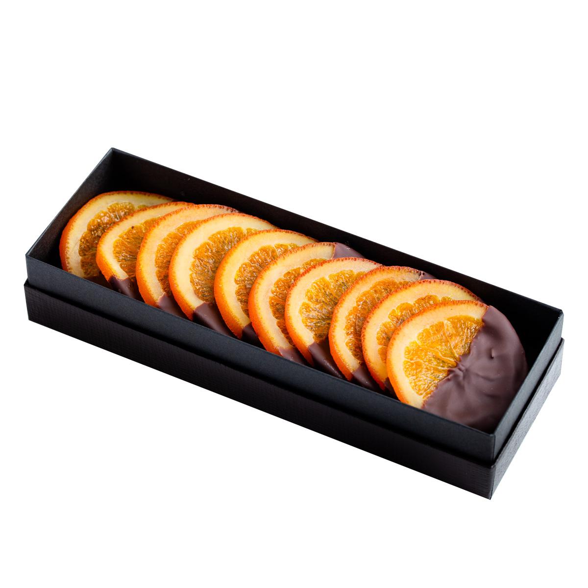 バレンシア<10枚入り>・ジューシーなバレンシア産オレンジとビターチョコレートのマリアージュ。Decadence du Chocolatの看板商品です。
