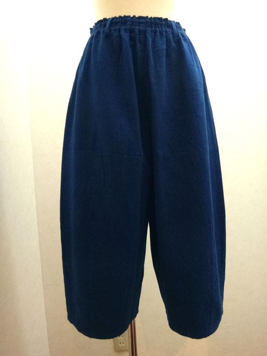 藍染 ダブルガーゼ ワイドパンツ(倉敷の本藍染)【 ■送料無料■ 】