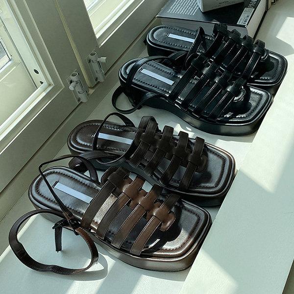 サンダル 低価格 バックストラップ ウェッジソール ウェッジヒール 厚底 フラット レディース 黒 茶色 韓国 靴 国内在庫 ブラウン 歩きやすい ブラック 婦人靴 グラディエーター