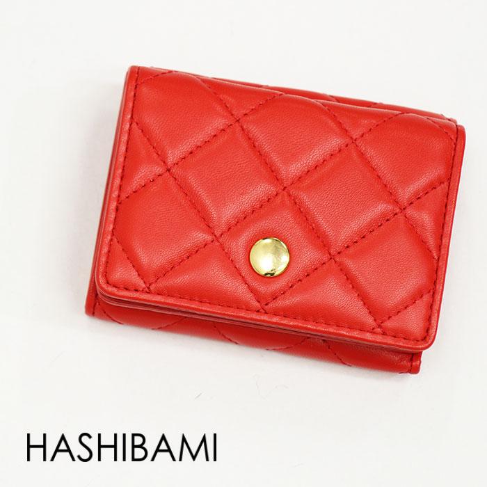 Hashibami ハシバミ キルティングミニウォレット EW-1706-601-B
