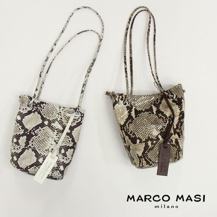 MARCO MASI マルコマージ パイソン柄バケツ型バッグ 2957