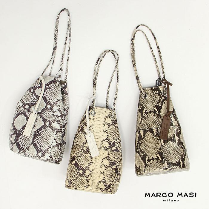 MARCO MASI マルコマージ パイソン柄ショルダーバッグ 3013