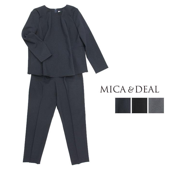 MICA&DEAL マイカアンドディール バックプリーツセットアップ D14A0019 【オケージョン フォーマル 大人 キレイめ パンツ ドレス】
