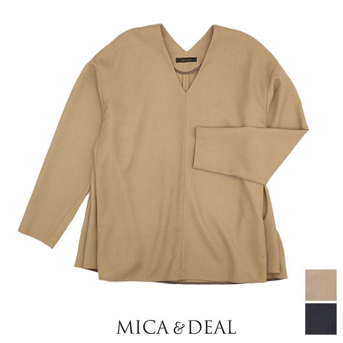 MICA&DEAL ブラウス Vネックフレア マイカアンドディール 120401232