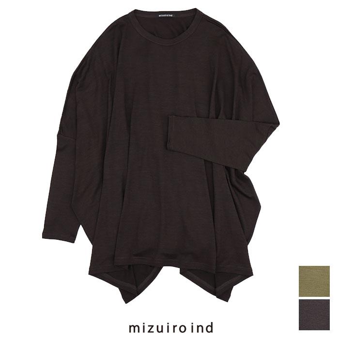 日本正規代理店品 SALE 40%OFF 推奨 mizuiro-ind ミズイロインド 4-219469 クルーネックワイドチュニック 4