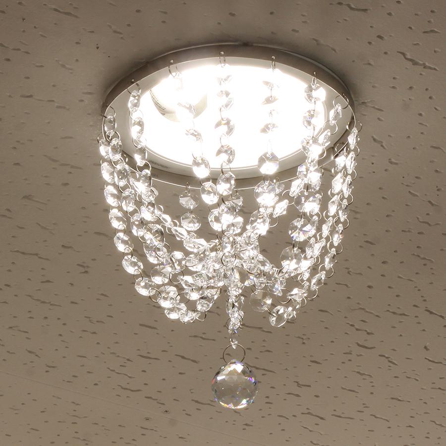 ミニシャンデリア【CHA03-170 ティアドロップ】φ170mm簡単取付《既存ダウンライト取付用》(照明器具別途)本物のガラス・クリスタル使用クリアな輝きをお楽しみください!