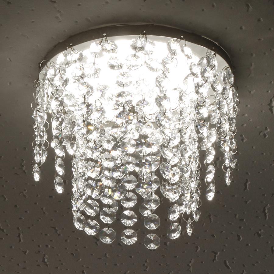 ミニシャンデリア【CHA11-170 キャッスル】φ170mm簡単取付《既存ダウンライト取付用》(照明器具別途)本物のガラス・クリスタル使用クリアな輝きをお楽しみください!