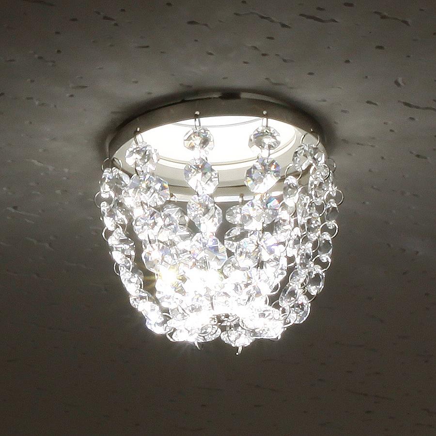 ミニシャンデリア【CHA12-110 ドーム】φ110mm簡単取付《既存ダウンライト取付用》(照明器具別途)本物のガラス・クリスタル使用クリアな輝きをお楽しみください!