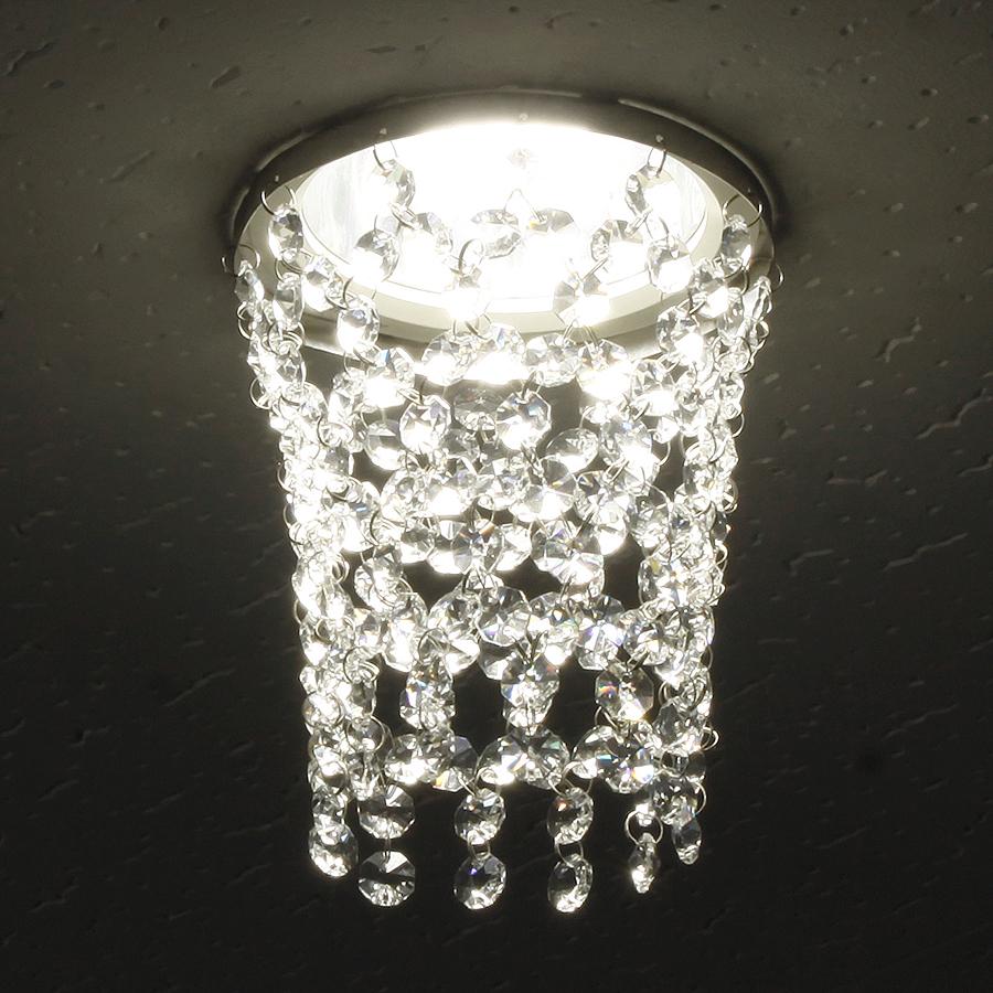 ミニシャンデリア【CHA13-135 タワー】φ135mm簡単取付《既存ダウンライト取付用》(照明器具別途)本物のガラス・クリスタル使用クリアな輝きをお楽しみください!