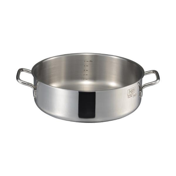 【代引き・同梱不可】MTI IH F-PRO 外輪鍋蓋無(目盛付) 30cm 004786-030