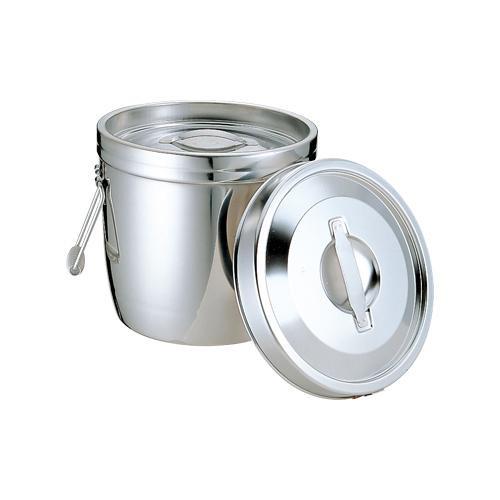 【代引き・同梱不可】18-8二重保温食缶(中蓋式) 両手クリップ無 6L 012315-001