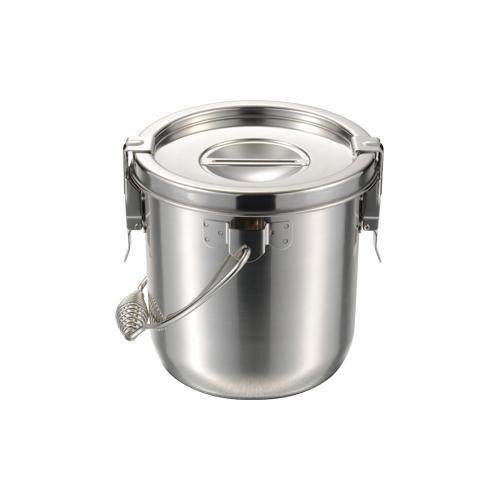 【代引き・同梱不可】18-8テーパー汁食缶吊付2ヶ所クリップ付 24cm 019682-005