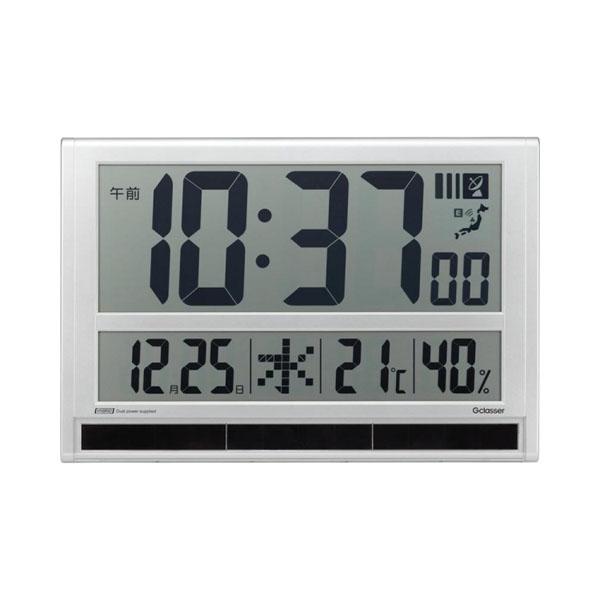【代引き・同梱不可】キングジム ハイブリッドデジタル電波時計 GDD-001大型 置きがた 壁掛け