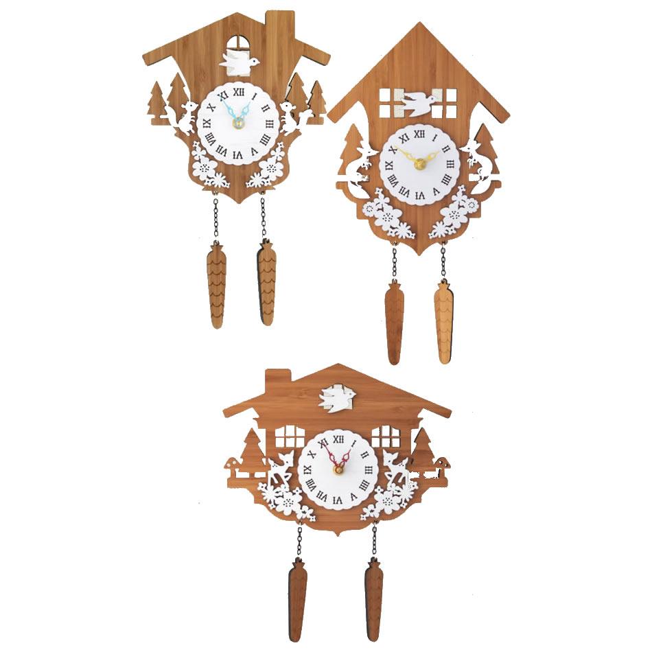 【代引き・同梱不可】Made in America DECOYLAB(デコイラボ) 掛け時計 CUCKOO 鳩時計