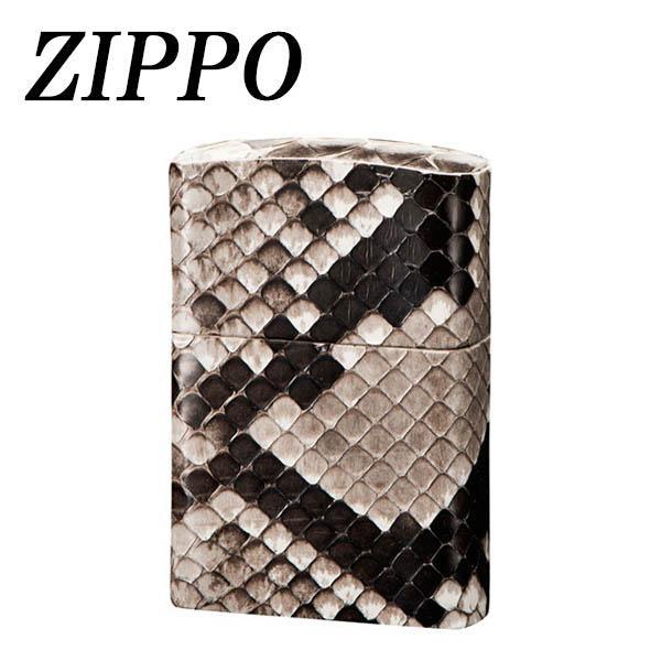 【代引き・同梱不可】ZIPPO 革巻 パイソンライター ジッポー オイル