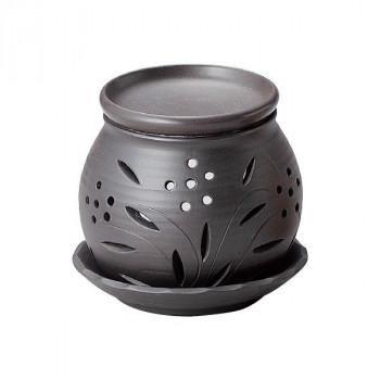 代引き 同梱不可 富仙黒丸茶香炉 M-1604 日本全国 ◆セール特価品◆ 送料無料
