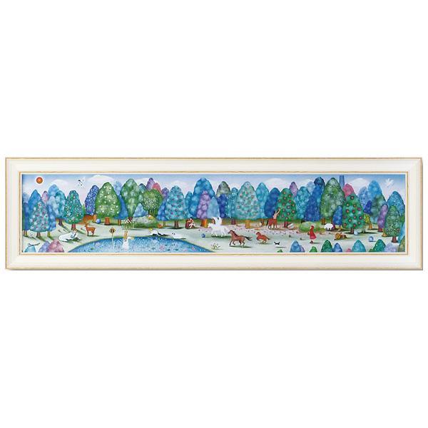 【代引き・同梱不可】ユーパワー アートフレーム なかの まりの とある森の奥から(Lサイズ) NM-15001絵 額 美術品