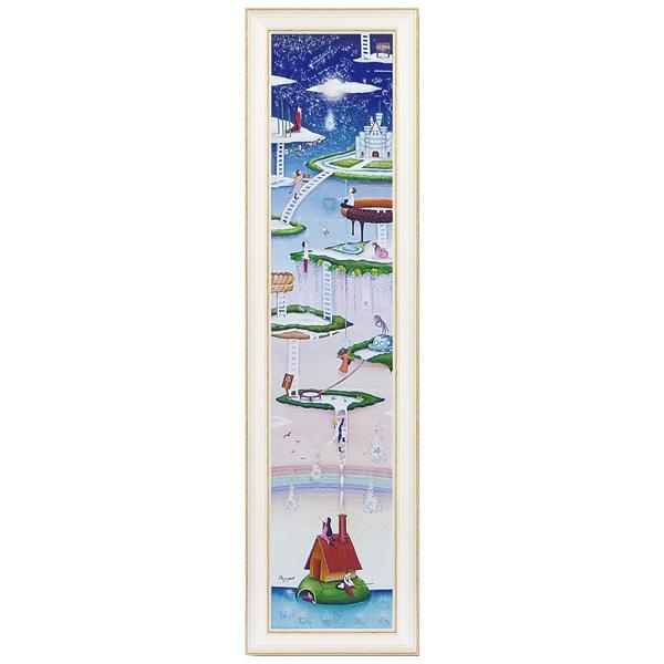 【代引き・同梱不可】ユーパワー アートフレーム なかの まりの 星降る海(Lサイズ) NM-15005美術品 ウォール 額