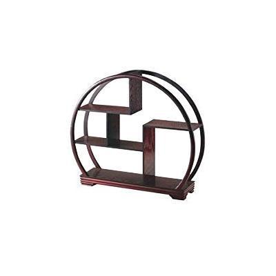 【代引き・同梱不可】丸型茶壷飾棚 X07J001 468192