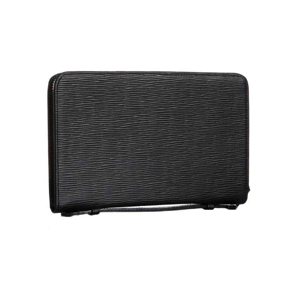 【代引き・同梱不可】EVERWIN(エバウィン) 牛革 多機能で収納力のあるクラッチバッグ マルチシステムホルダー(シングル) 21559 ブラックかっこいい 財布 日本