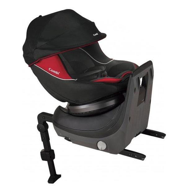 【代引き・同梱不可】Combi(コンビ) チャイルドシート クルムーヴ ISOFIX エッグショックPJ ブラック 適応体重:18kg以下 (参考:新生児~4才頃)クッション 新生児 回転式
