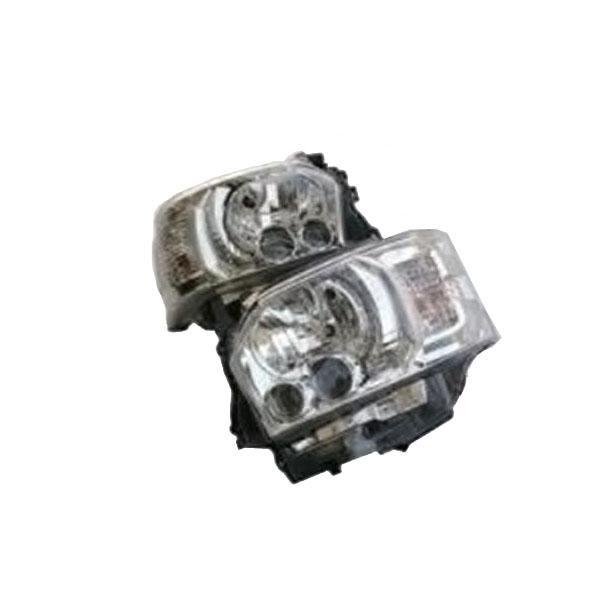 【代引き・同梱不可】SoulMates 200系ハイエース(1・2・3型用) カスタム用LEDヘッドライト 4型ルック シルバータイプ GTH-008