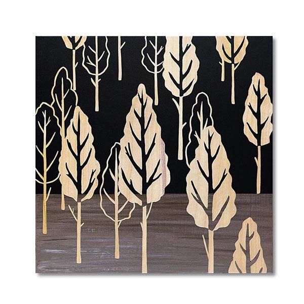 【代引き・同梱不可】ユーパワー Wood Sculpture Art ウッド スカルプチャー アート フォレスト ツリー (BK+NP) SA-15060