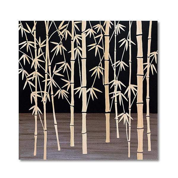 【代引き・同梱不可】ユーパワー Wood Sculpture Art ウッド スカルプチャー アート フォレスト バンブー (BK+NP) SA-15056