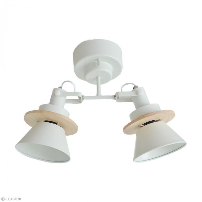 【代引き・同梱不可】ELUX(エルックス) CERON(セロン) 2灯シーリングスポットライト ホワイト LC10967-WH
