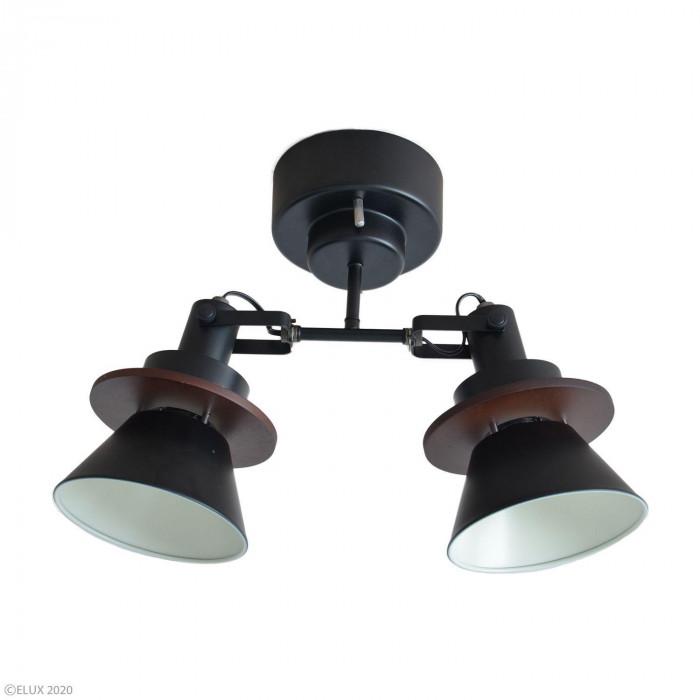 【代引き・同梱不可】ELUX(エルックス) CERON(セロン) 2灯シーリングスポットライト ブラック LC10967-BK