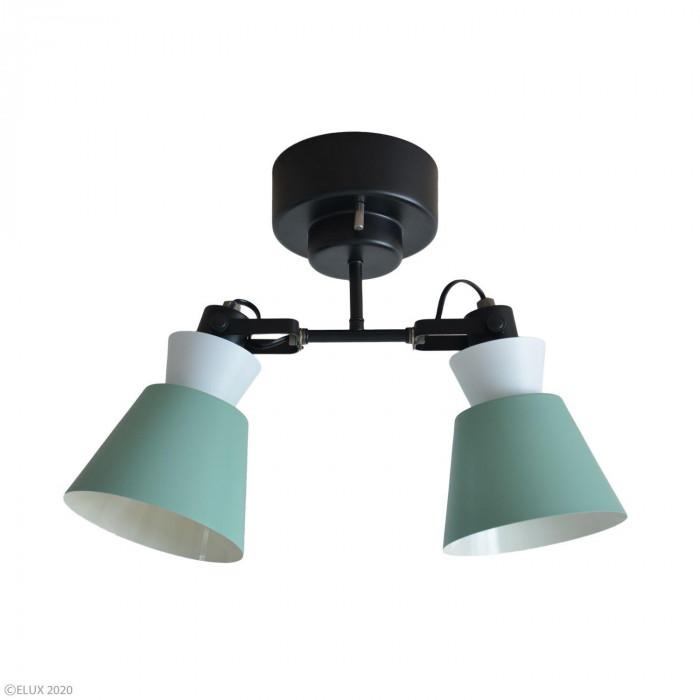 【代引き・同梱不可】ELUX(エルックス) LARKS(ラークス) 2灯シーリングスポットライト グリーン LC10976-GR