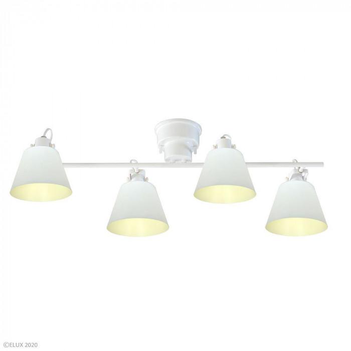 【代引き・同梱不可】ELUX(エルックス) FLAGS(フラッグス) 4灯シーリングライト ホワイト LC10930-WH