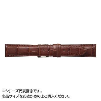 【代引き・同梱不可】MIMOSA(ミモザ) 時計バンド クロコマット 18cm マロンブラウン (美錠:銀) WRM-M18