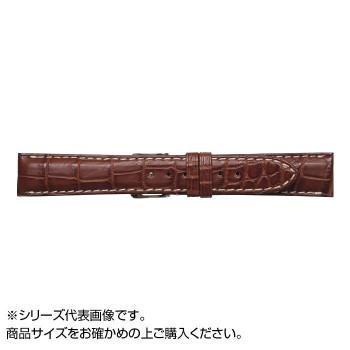 【代引き・同梱不可】MIMOSA(ミモザ) 時計バンド クロコマット 18cm マロンブラウン/ホワイト (美錠:銀) WRM-MW18