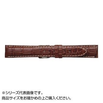 【代引き・同梱不可】MIMOSA(ミモザ) 時計バンド クロコマット 19cm マロンブラウン/ホワイト (美錠:銀) WRM-MW19