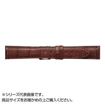 【代引き・同梱不可】MIMOSA(ミモザ) 時計バンド クロコマット 22cm マロンブラウン (美錠:銀) WRM-M22