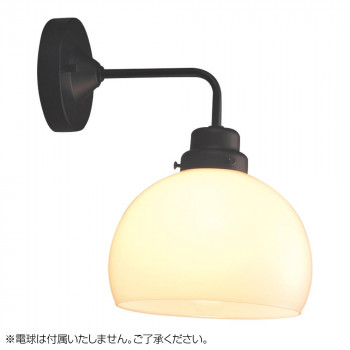 【代引き・同梱不可】ブラケットライト 鉄鉢硝子セード・BK型BK (電球なし) GLF-3259X