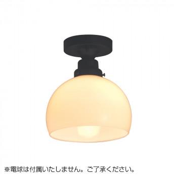 【代引き・同梱不可】シーリングライト 鉄鉢硝子セード・CL型BK (電球なし) GLF-3258X