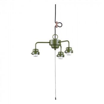 【代引き・同梱不可】3灯用ビス止めCP型吊具 緑塗装 GLF-0270GR