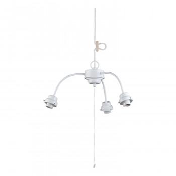 【代引き・同梱不可】3灯用ビス止めアームCP型吊具 白塗装 GLF-0271WH