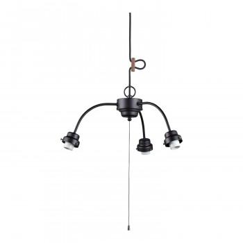 【代引き・同梱不可】3灯用ビス止めアームCP型吊具 黒塗装 GLF-0271BK