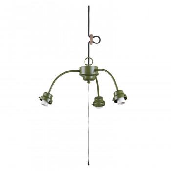 【代引き・同梱不可】3灯用ビス止めアームCP型吊具 緑塗装 GLF-0271GR