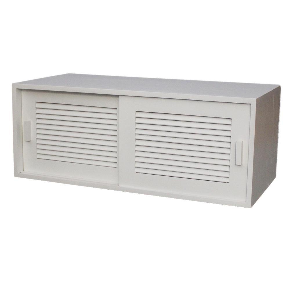 【代引き・同梱不可】ルーバー式カウンター上収納 60幅 W(ホワイト) BL6028ダイニング キッチン 軽い