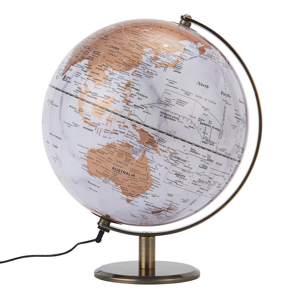 【代引き・同梱不可】茶谷産業 Fun Science インテリア地球儀 ライト 331-101科学 サイエンス オシャレ