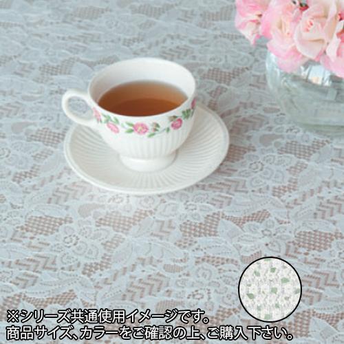 【代引き・同梱不可】富双合成 テーブルクロス フローラレース 約130cm幅×20m巻 FP3001 グリーン