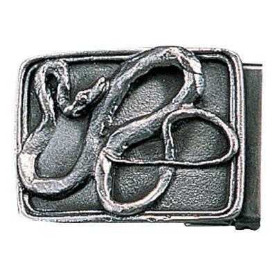 【代引き・同梱不可】高岡銅器 銅製小物 名取川雅司作 バックル ヘビ 52-11
