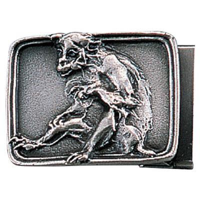 【代引き・同梱不可】高岡銅器 銅製小物 名取川雅司作 バックル サル 52-14